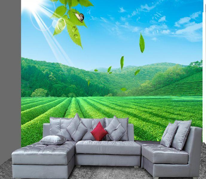 3D greene saubere Anlage8432 Fototapeten Wandbild Fototapete Bild Tapete Familie