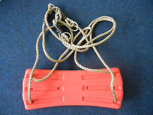 Hills-Compatible-Winged-Red-Seat-on-Ropes-NEW-Replacement-Swing-Set-Parts