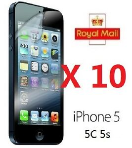 10-x-APPLE-IPHONE-5-5C-5S-CLEAR-FRONT-SCREEN-PROTECTOR-LCD-FILM-FOIL-GUARD-Cloth
