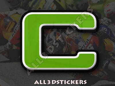 50 mm 3D Stickers Resin Domed LETTER O Adhesive Decal Color Red 2 inches