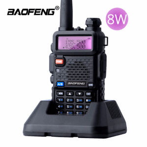 Baofeng-UV-5R-Real-8W-Walkie-Talkie-Dual-Band-VHF-UHF-Two-way-Radios-transceiver