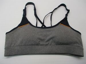 new-CHAMPION-C9-Women-039-s-Size-S-Compression-Heather-Gray-Navy-Padded-Sports-Bra