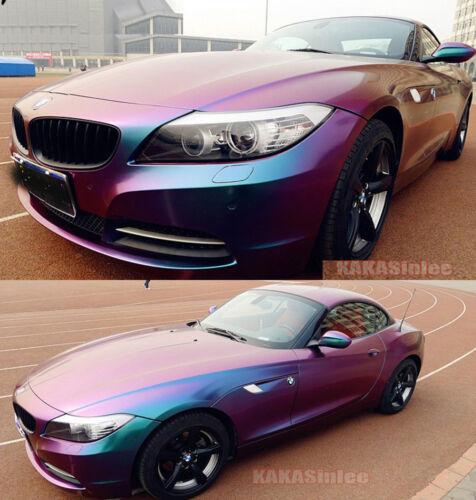 "Purple HD Cool Car Wrap Glossy Flat Chameleon Vinyl Sticker Green 12/"" x 60/"""