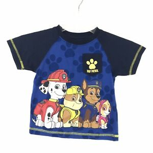 Nickelodeon-Boys-Youth-Size-2T-Blue-Paw-Patrol-Character-Short-Sleeve-T-Shirt