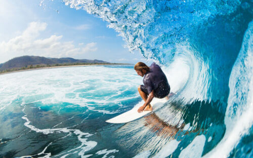 Surfing Photo Wallpaper Mural Poster Giant Wall Decor Pre-pasted BZ155