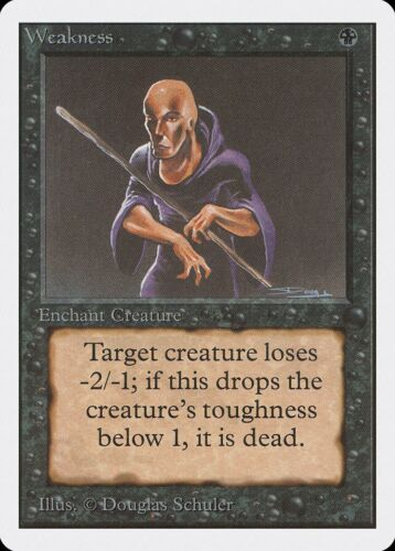 Weakness Unlimited MINT Black Common MAGIC THE GATHERING MTG CARD ABUGames