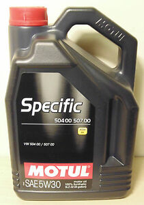 Motul Specific 5W30 Engine Oil 504 00 507 00 C-3 5L for Volkswagen
