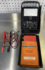 Simpson 260 Multimeter Series 6p Meter With Protective Cover Amp Manual Nice