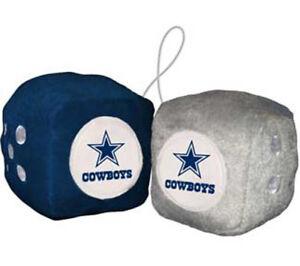 Dallas-Cowboys-Fuzzy-Dice-NFL-Football-Team-Logo-Plush-Car-Truck-Auto