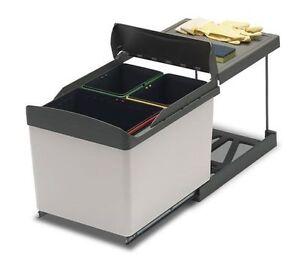 Pattumiera per cucina sottolavello 3 secchi AUTOMATICA ì | eBay