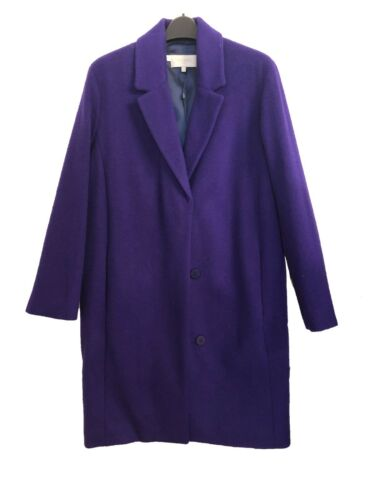 Ex Hobbs Purple Long Line Boyfriend Coat Size 12 18