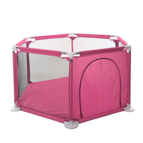 Baby Playpen 6 Panel Fence Play Pen for Toddlers Ocean Ball Safety Gate Fence UK