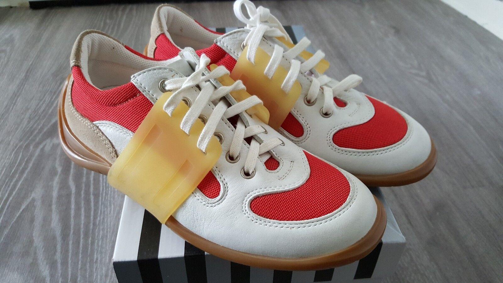 Pirelli Damen Leder Schuhe schnürer gr. 36 rot kombi Nagelneu