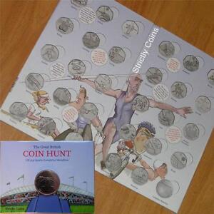 Olympic-50p-SPORT-ALBUM-Official-Royal-Mint-Coin-Hunt-Folder-Completer-Medallion