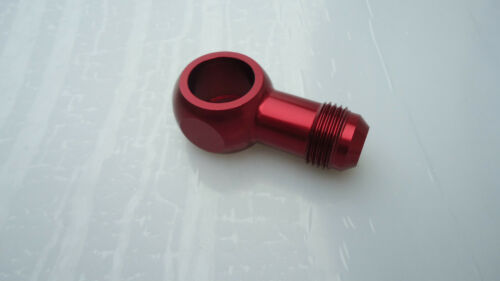 Billet Alloy AN 8AN male to fuel pump fitting Banjo M22 1.5 mm Red