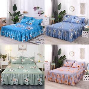 Queen-Size-Skin-Friendly-Bedspread-Bedding-Set-3Pcs-Set-Bed-Skirt-Pillowcases-US