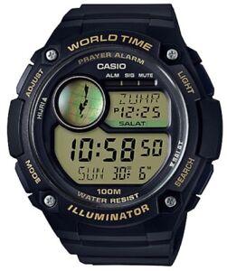 Casio-Watch-CPA100-9AV-Islam-Hijri-Calendar-Prayer-Alarm-Black-w-Gold-Resin