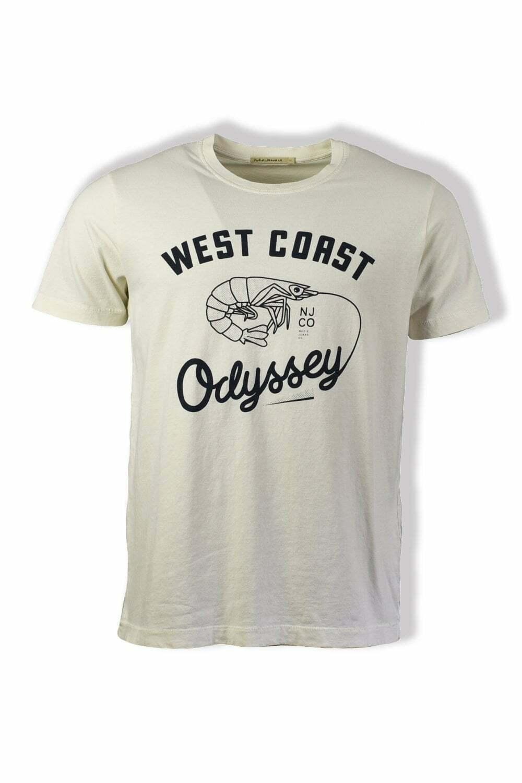 Nudie Jeans Co Roy West Coast Odyssey T-Shirt (Dusty White)