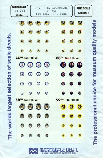 1//72 MicroScale Decals USAF TAC Insignia Badges 72-376