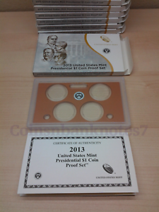 2013-Presidential-Dollar-Proof-Set-Box-Lens-amp-Certificate-NO-Coins