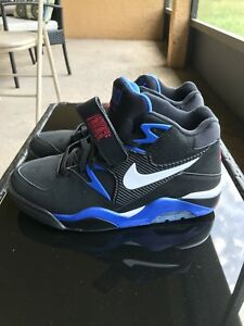 wholesale dealer ea446 e4646 Image is loading Nike-Air-Force-180-Barkley-Black-Blue-Men-