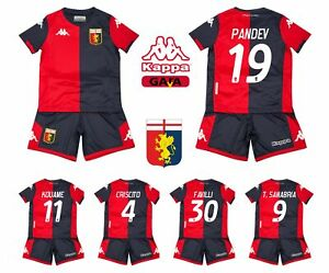 10 ans Kappa Maillot pour enfant Genoa FC 2019//20 100 /% pandev Perin Kouame Chriscito