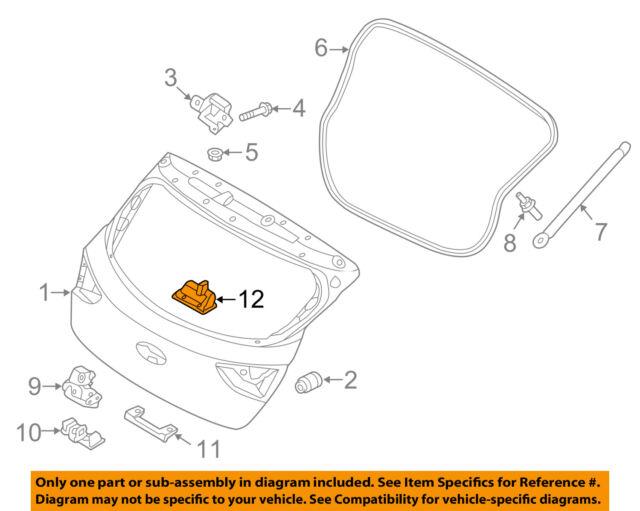 hyundai oem liftgate tailgate hatch handle outside exterior rh ebay com Chevy S10 Tailgate Parts Diagram Bronco Tailgate Parts