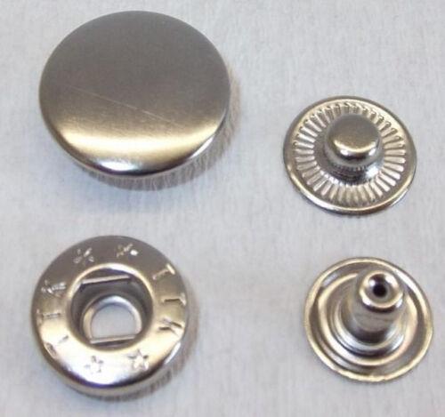 50 pulsadores pulsador 20mm plata!! inoxidable!!!