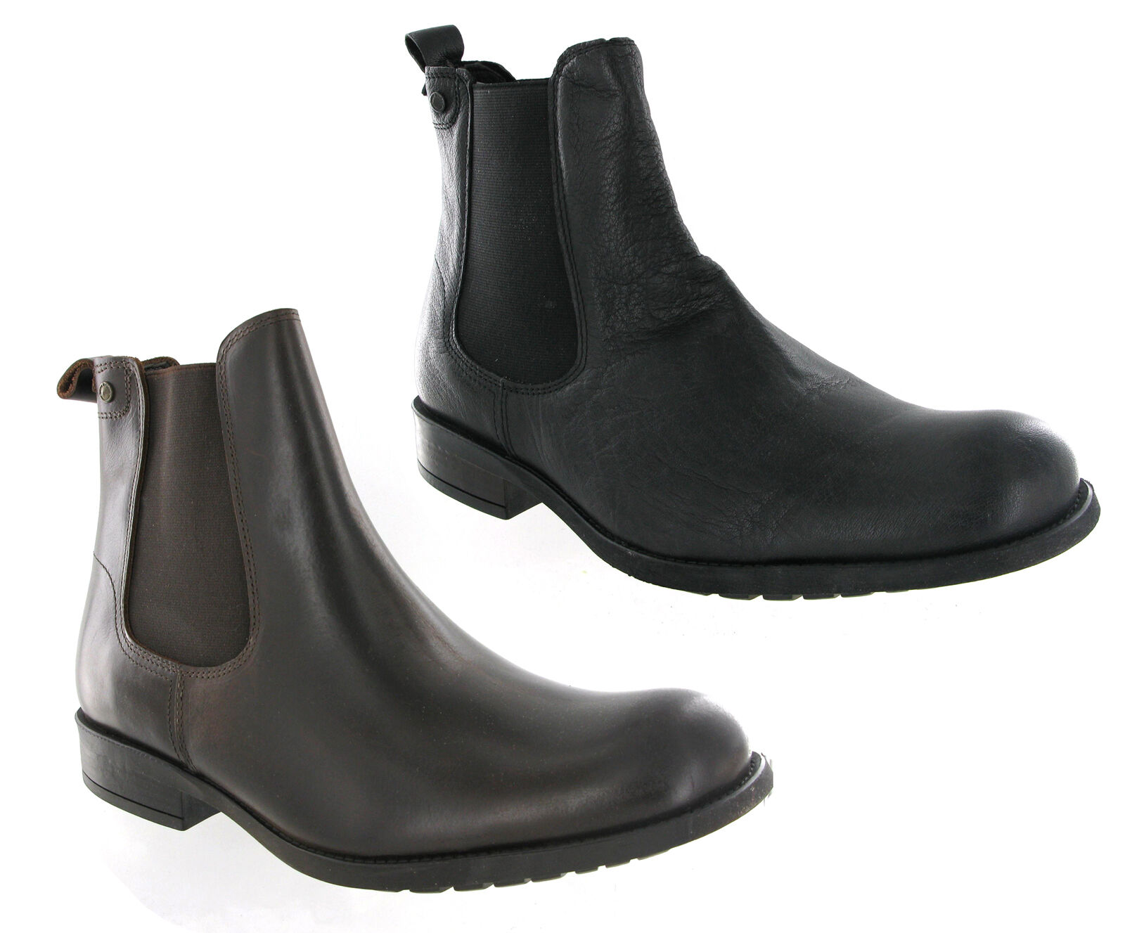 Base Leder London Copper schwarz Braun Leder Base Chelsea Dealer Mens Ankle Stiefel 6-12 a099ab