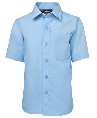 Jb/'s wear Kids Short Sleeve Poplin School Shirt Chest Pocket Curved Hem BackTail