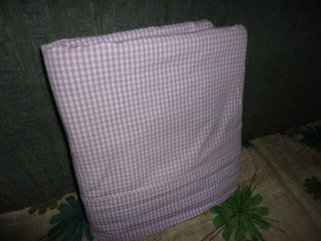 INDIGO HOME LAVENDER PURPLE & WHITE GINGHAM FULL FLAT SHEET 80 X 83