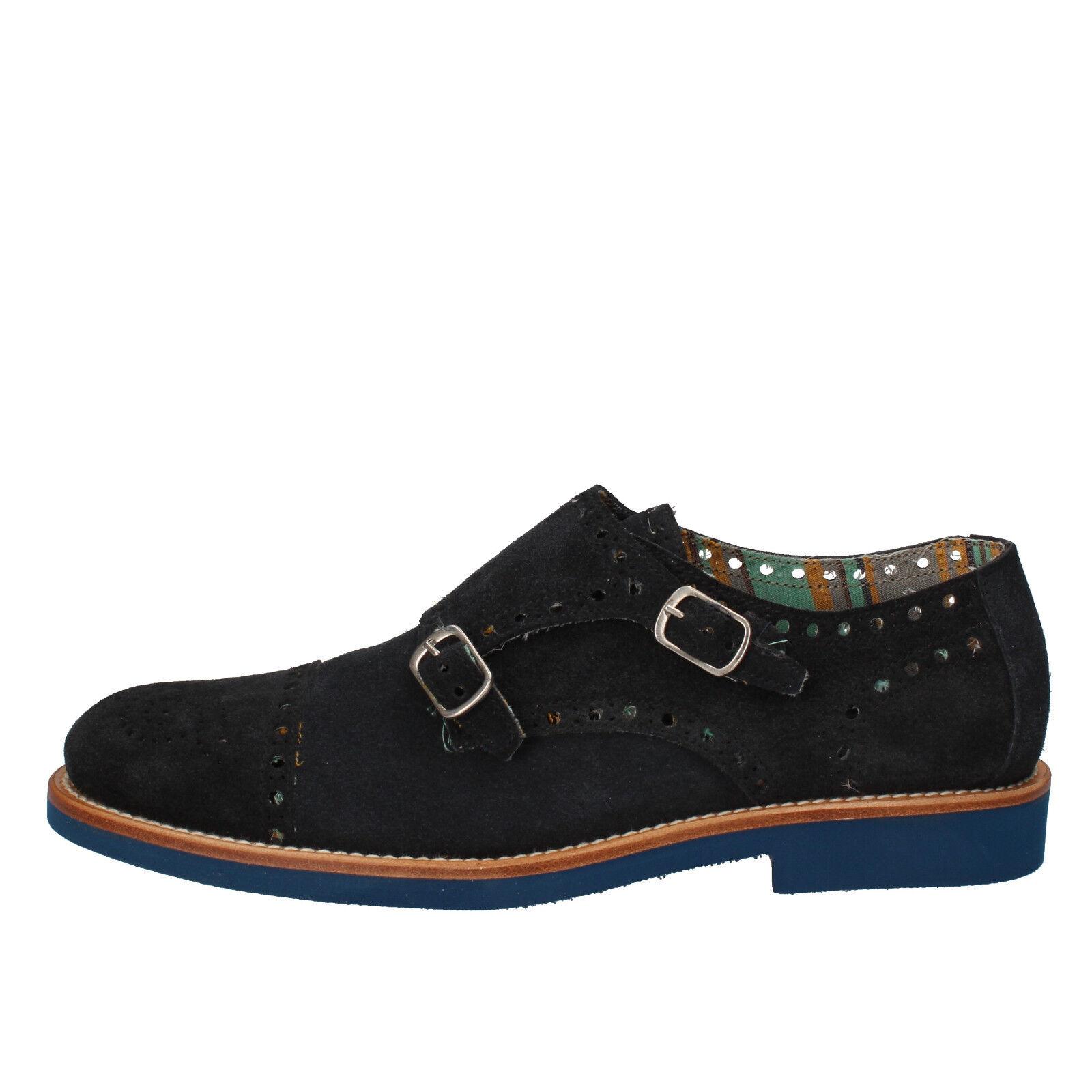 Men's shoes DI MELLA 10 (EU 43) elegant   oxford-shoes bluee suede AD269-F