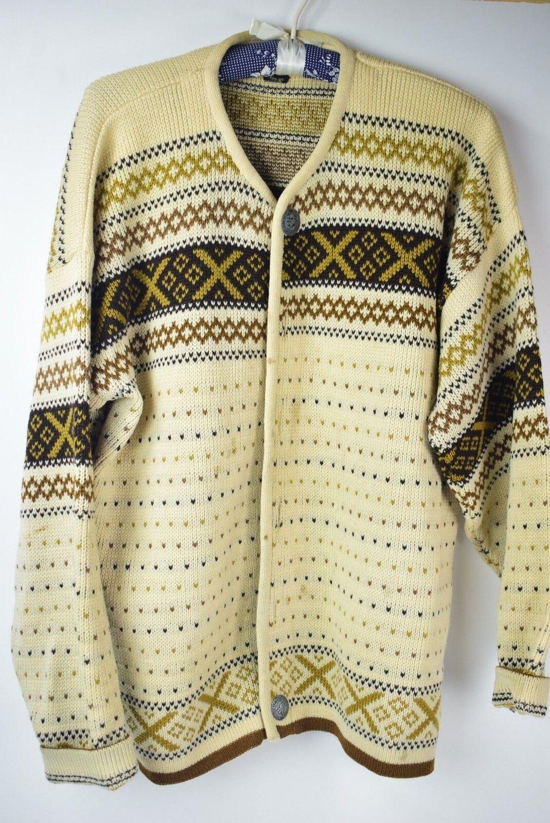 Vintage Norvyk Ren - Dale Wool Cardigan Sweater