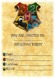 Image Is Loading Harry Potter A5 Kids Children 039 S Party