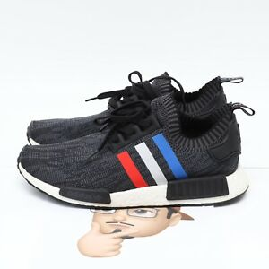 Us 11 Adidas Nmd R1 Primeknit Bb2887 Tri Color Black Red White