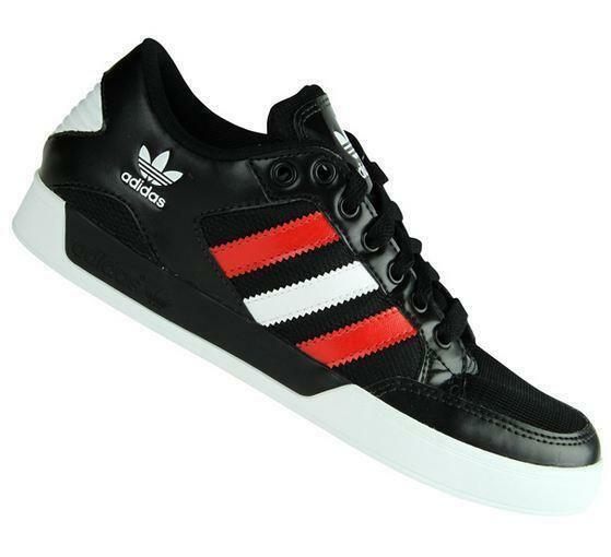 Mens ADIDAS HARD COURT LOW Black Trainers G46703