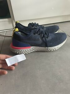 Nike Epic React Flyknit College Navy  100 % authentique  Size 10US FR44 Rare
