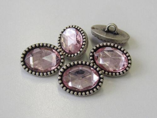 3 joyas que brillan botones extravagancia de forma ovalada en bastones /& rosa 1697rs