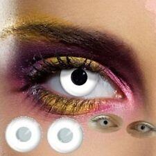 80001 paire de lentilles couleur blanche contact halloween lens white vampire