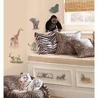 SAFARI wall stickers 19 decals Zebra Elephant Rhino Animal scrapbook jungle zoo