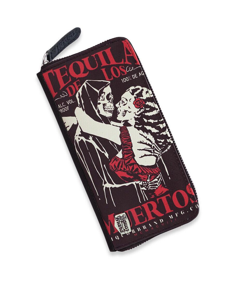 Liquor Brand Tequila de los Muertos Skull Gothic Punk Clutch Wallet LB-ABWL-2013