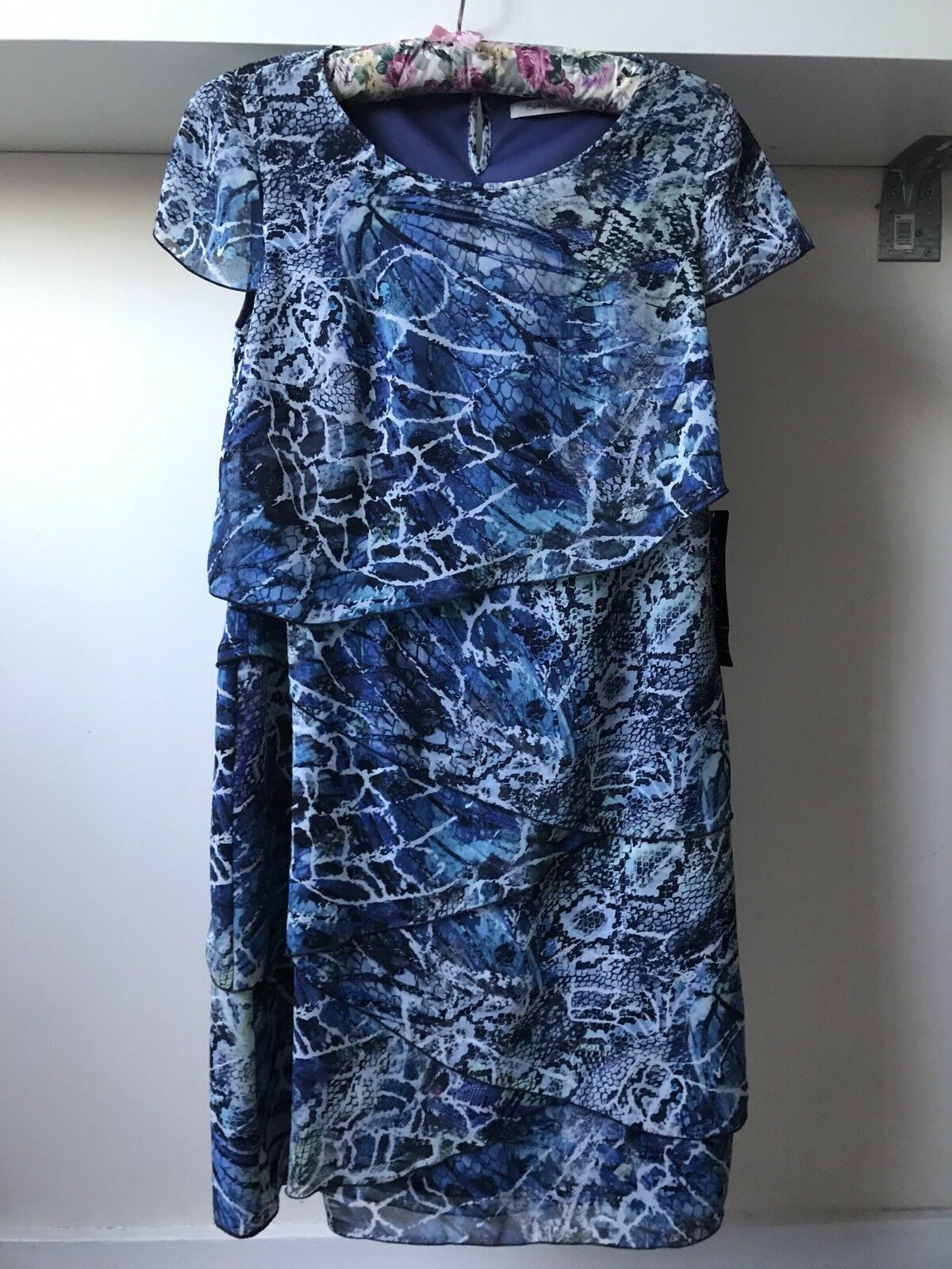 Betty Barclay Ladies bluee Print Dress Sz 12 BNWT RRP