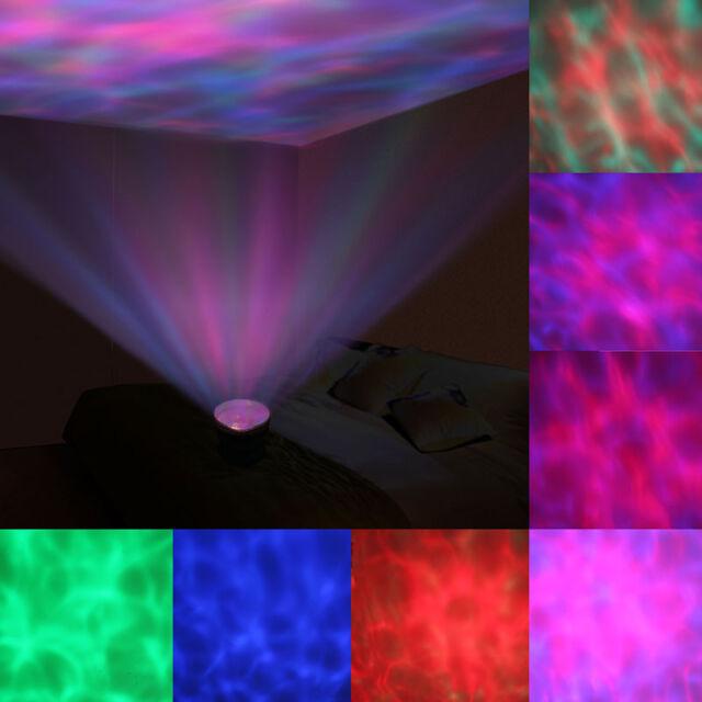 Projection Ocean Wave 12 LED Night Light + Speaker for Sound Sleep Relaxing