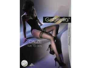 Gabriella-halterlose-Struempfe-Calze-LUX-15DEN-202-Schwarz-XS-L-Damenstruempfe