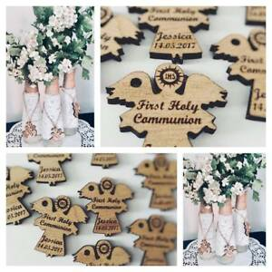 First Holy Communion Wooden Angel Table Decoration Keepsake English