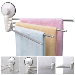 bathroom wall mounted towel bar suction cup rack storage holder rail stainless ebay. Black Bedroom Furniture Sets. Home Design Ideas