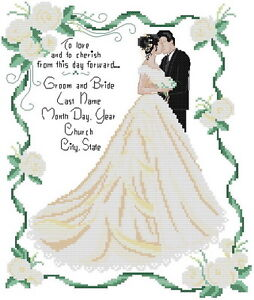 14-cuenta-Aida-Bordado-Cross-Stitch-Kit-de-boda-con-coloridos-Grafico-R126