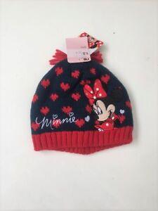 NEW Minnie Mouse Girls Winter Knit Hat Pom Pom Beanie Hat 6-8 years