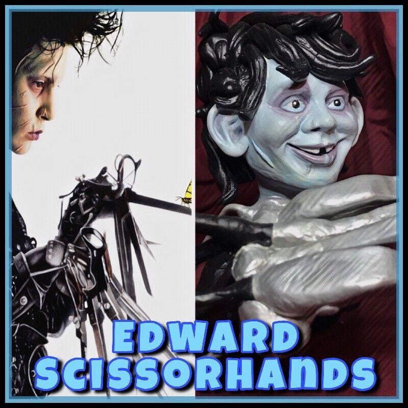 Edward Scissor Hands Alfred E Newman Neuman Figure Statue Bust Mad Magazine