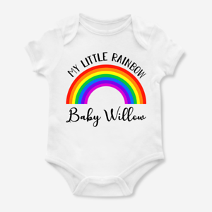 0f6516d74a9db Image is loading Personalised-My-Little-Rainbow-Name-Baby-Grow-Bodysuit-